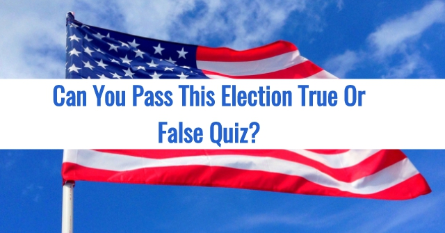Can You Pass This Election True Or False Quiz?