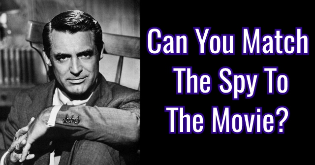 Can You Match The Spy To The Movie?