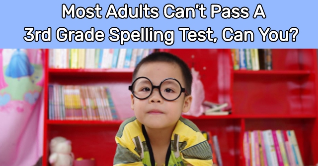 Most Adults Can't Pass A 3rd Grade Spelling Test, Can You?