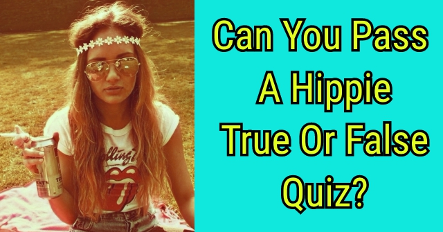 Can You Pass A Hippie True Or False Quiz?