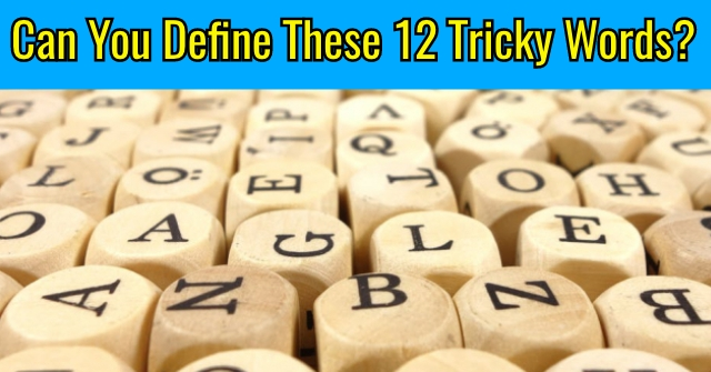 Can You Define These 12 Tricky Words?