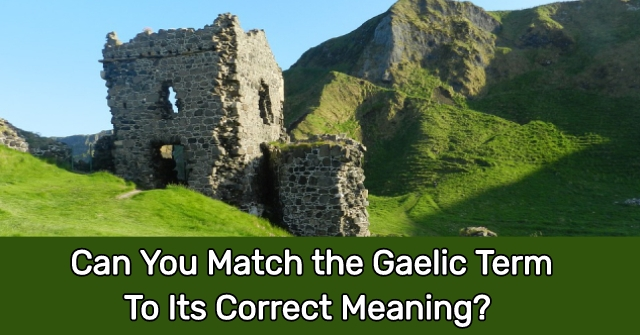Can You Match The Gaelic Term To Its Correct Meaning?