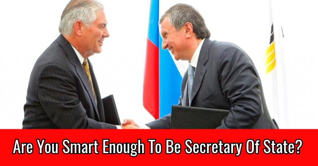 Are You Smart Enough To Be Secretary Of State?