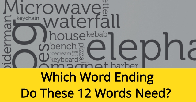 Which Word Ending Do These 12 Words Need?