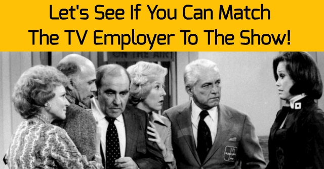 Let's See If You Can Match The TV Employer To The Show!