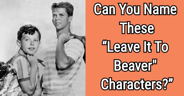 "Can You Name These ""Leave It To Beaver Characters?"""