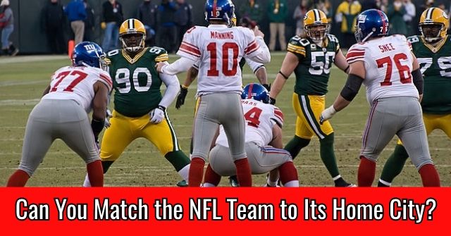 Can You Match the NFL Team to Its Home City?
