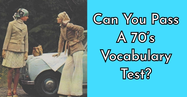 Can You Pass A 70's Vocabulary Test?