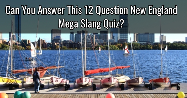 Can You Answer This 12 Question New England Mega Slang Quiz?