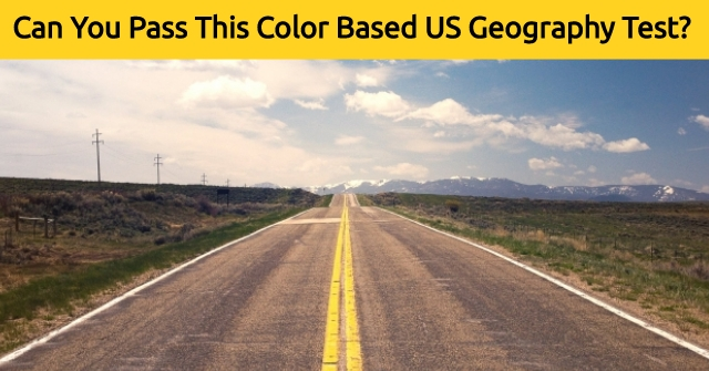 Can You Pass This Color Based US Geography Test?