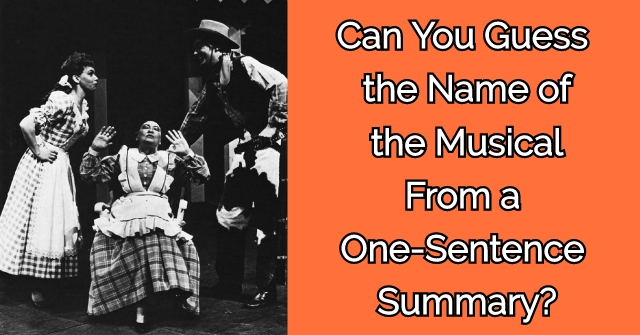 Can You Guess the Name of the Musical From a One-Sentence Summary?