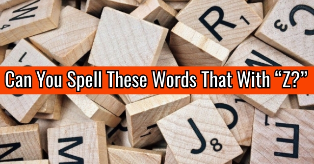 "Can You Spell These Words That With ""Z?"""