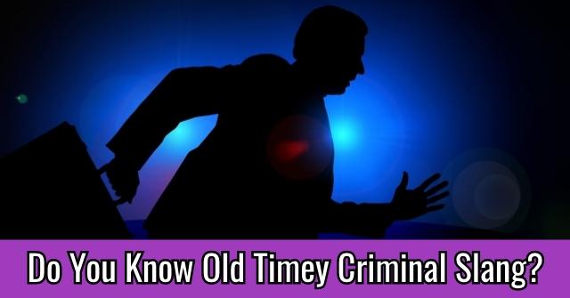 Do You Know Old Timey Criminal Slang?