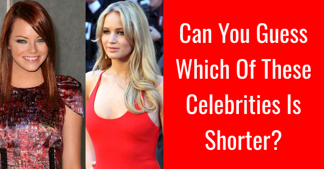 Can You Guess Which Of These Celebrities Is Shorter?