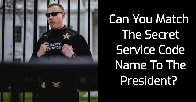 Can You Match The Secret Service Code Name To The President?