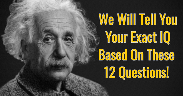 We Will Tell You Your Exact IQ Based On These 12 Questions!