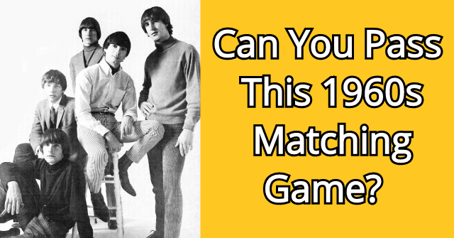 Can You Pass This 1960s Matching Game?