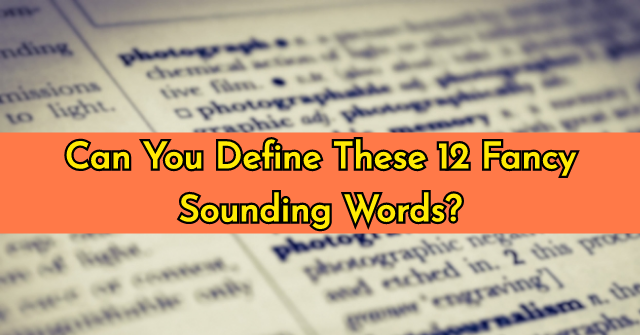 Can You Define These 12 Fancy Sounding Words?
