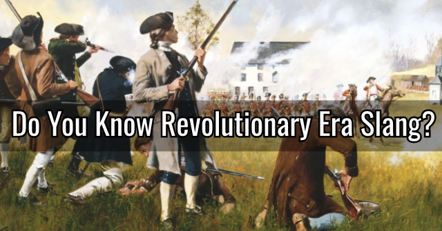 Do You Know Revolutionary Era Slang?