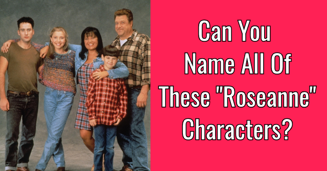 "Can You Name All Of These ""Roseanne"" Characters?"