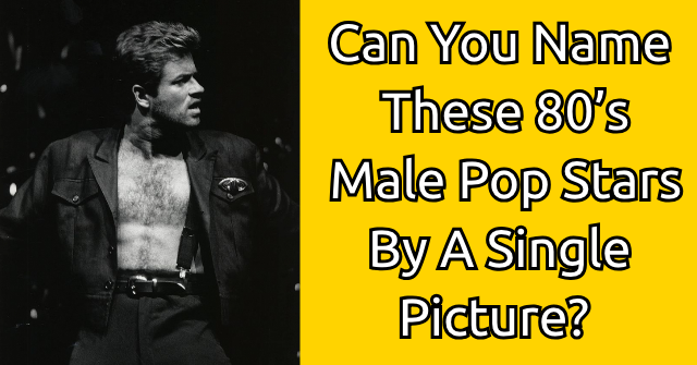 Can You Name These 80's Male Pop Stars By A Single Picture?