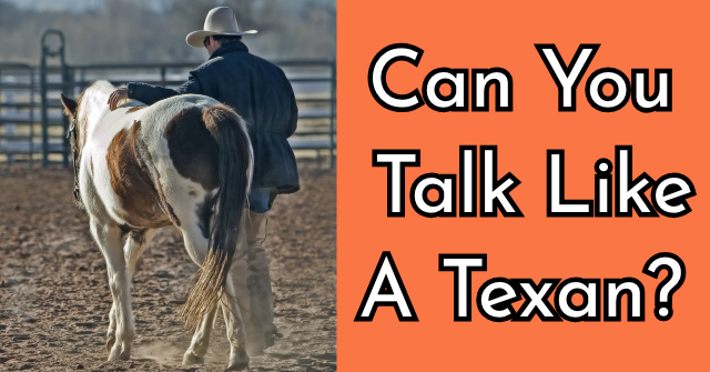 Can You Talk Like A Texan?