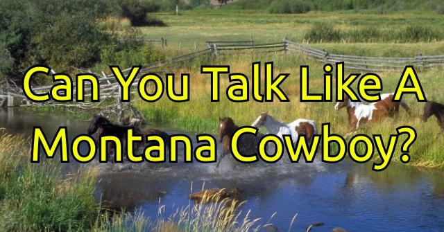 Can You Talk Like A Montana Cowboy?