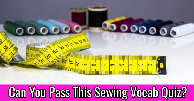 Can You Pass This Sewing Vocab Quiz?