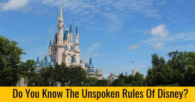Do You Know The Unspoken Rules Of Disney?