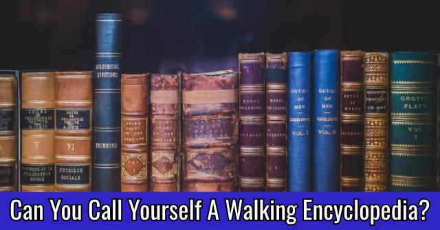Can You Call Yourself A Walking Encyclopedia?