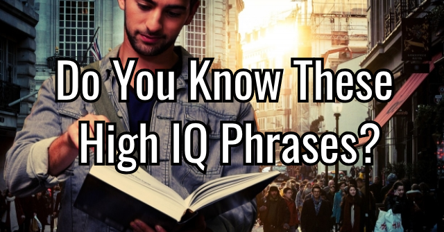 Do You Know These High IQ Phrases?