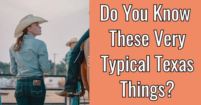 Do You Know These Very Typical Texas Things?